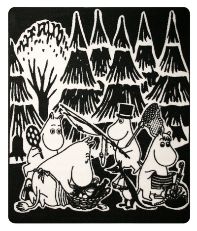 "Moomin rug ""Picnic with Moominvalley's characters"", 100x120cm"