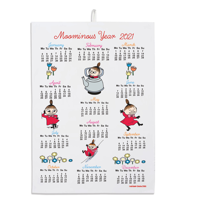 Moomin seasonal product calendar towel 2021 Little My
