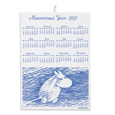 Moomin seasonal product calendar towel Snow Blizzard 2021