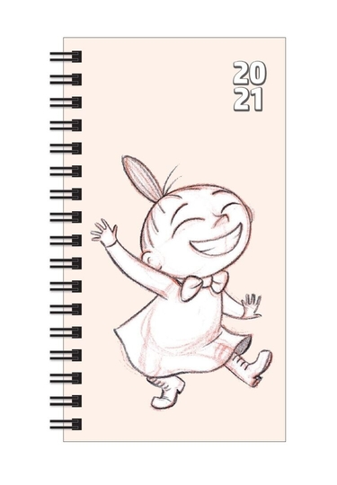 Moomin semester calendar 2020-2021, pocket-sized, Little My