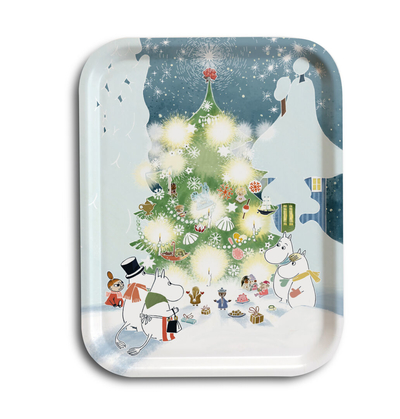 Moomin serving tray,  Christmas tree