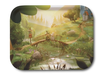 Moomin serving tray 27x20cm, Moominvalley Snufkin&Moomin