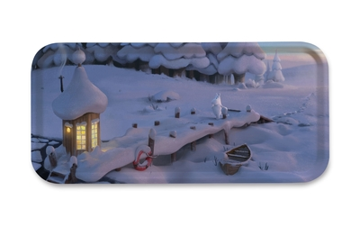 Moomin serving tray 32x15cm, Moominvalley Snowbridge