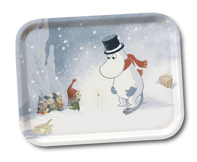 Moomin serving tray Moominpappa and candle