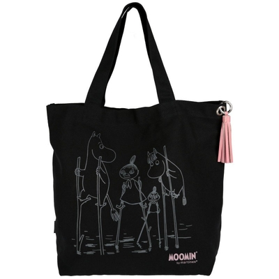 Moomin shopper bag Flood, black