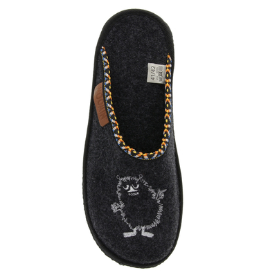 Moomin slippers (unisex) Whirl Stinky dark grey