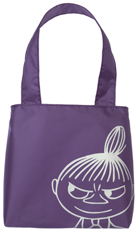 Moomin small eco bag Little My, magenta