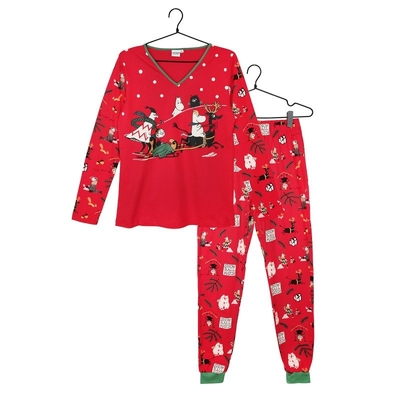 Moomin snowball fight pyjamas, red