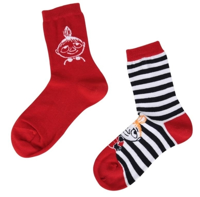 Moomin socks 2 pairs, Little My striped, different sizes