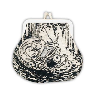 Moomin soft tapestry purse, My in Basket