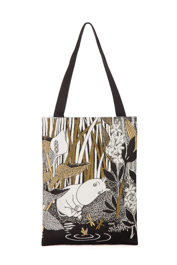Moomin soft tapestry shoulder bag, Dreaming Moomin, brown