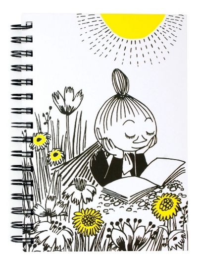Moomin spiral notebook, reading time