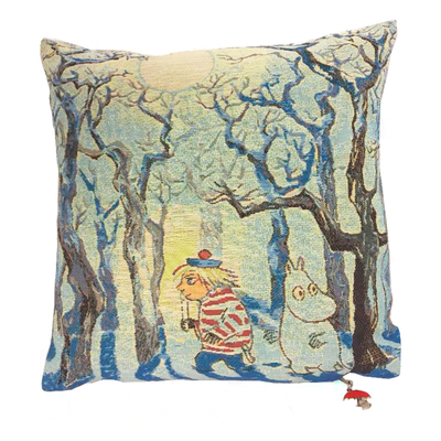 Moomin tapestry decor pillow cover,  Moominland Midwinter 35x35cm, multi color