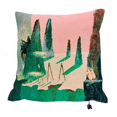 Moomin tapestry decor pillow cover, Moomin comet 35x35cm,multi color