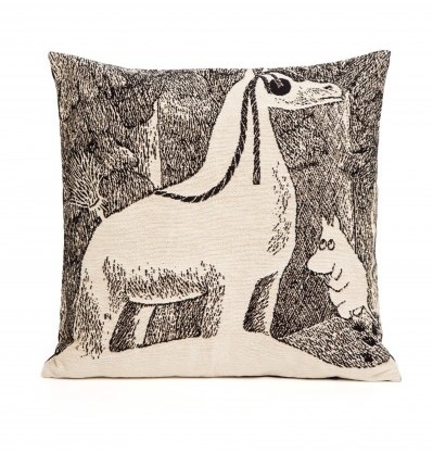 Moomin tapestry decor pillow cover, Snow horse