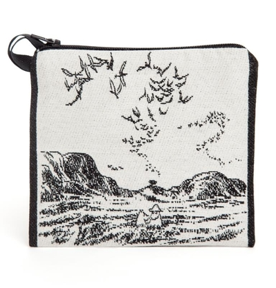 "Moomin tapestry purse/ neck pouch, ""Muumit merellä"""
