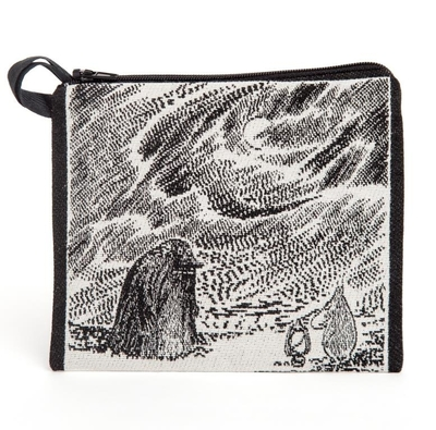 Moomin tapestry purse/ neck pouch, Groke