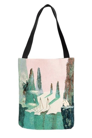 Moomin tapestry shopper bag, Comet in Moominland, colorful