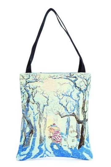 Moomin tapestry shopper bag, Magic Winter, colorful