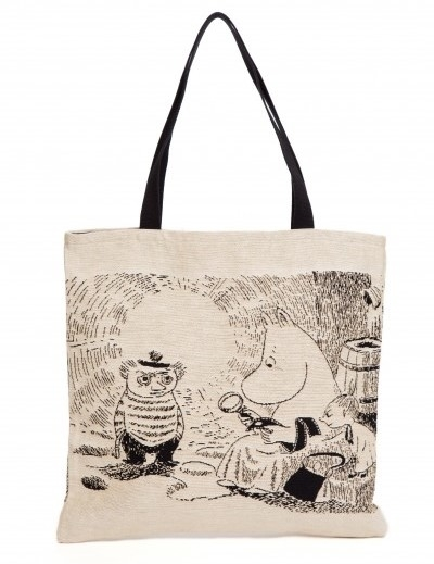 Moomin tapestry shopper bag, Moominmamma & magnifying glass