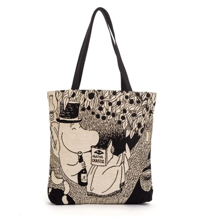 Moomin tapestry shopper bag, Moominpappa in a tree