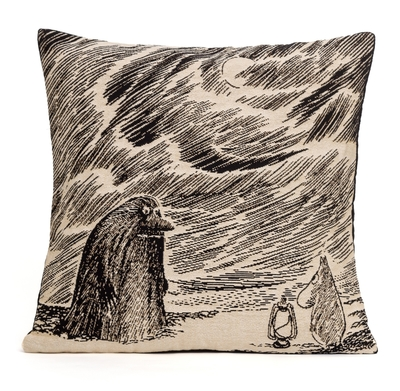 Moomin tapestry throw pillow cover, The Groke