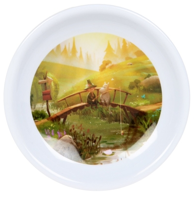 Moomin tea bag plate, the Bridge