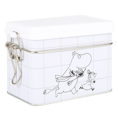 Moomin tea caddy Grid with a closing clip