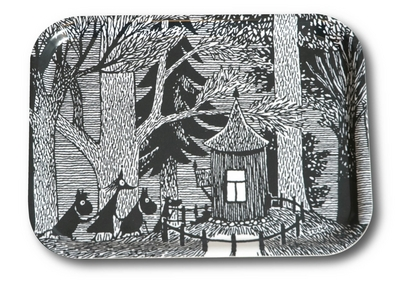 "Moomin tray ""Forest cottage"""