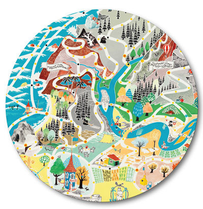Moomin trivet 21cm Japan Map