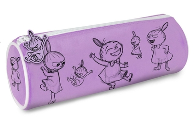 Moomin tube pencil case, purple