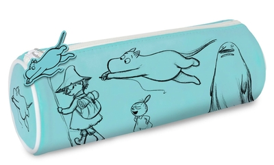 Moomin tube pencil case, turquoise