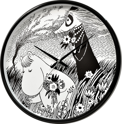 Moomin wall clock, Snorkmaiden in the field