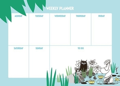Moomin weekly calendar A4, 52 pages, Jungle