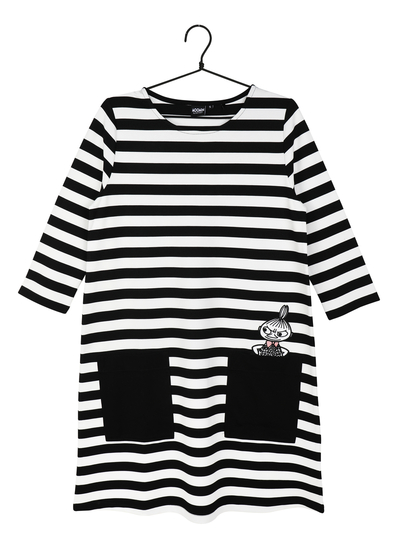 Moomin women's Auli dress, Little My black/white