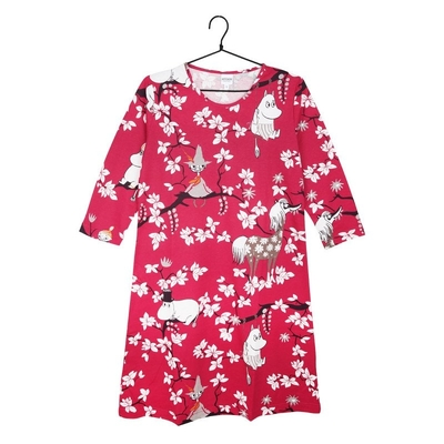 Moomin women's Climbing Tree -nightgown, pink