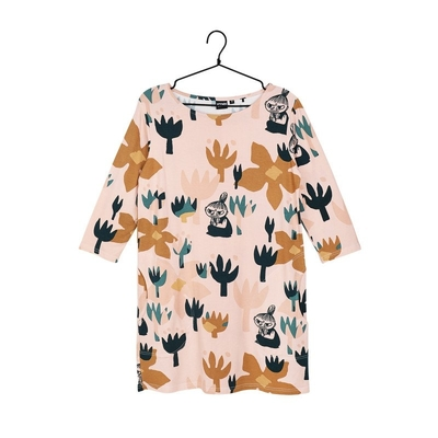 Moomin women's Hilda tunic Blooming, rose