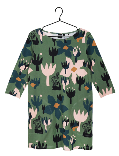 Moomin women's Hilda tunic Flourish, green