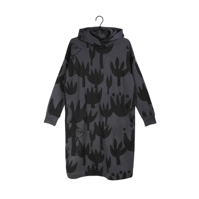 Moomin women's Kaisu hoodie dress Tulip, grey