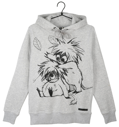 Moomin women's Lilli -hoodie Woodies Sketch, grey
