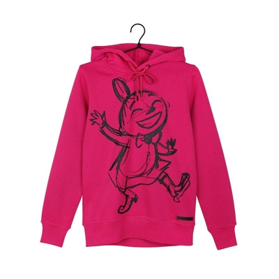 Moomin women's Little My hoodie Sketch, raspberry