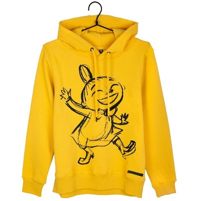 Moomin women's Little My hoodie Sketch, yellow