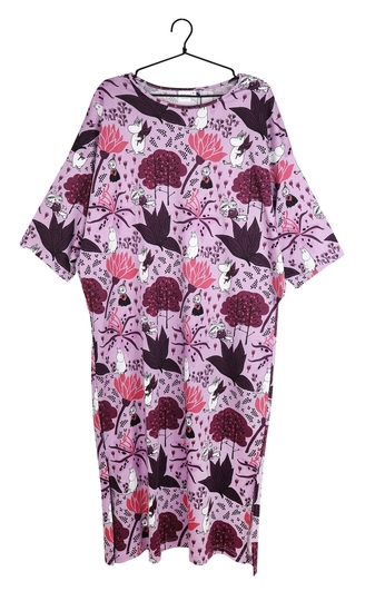 Moomin women's Magic Forest caftan, purple