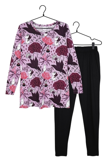Moomin women's Magic Forest pyjamas, purple