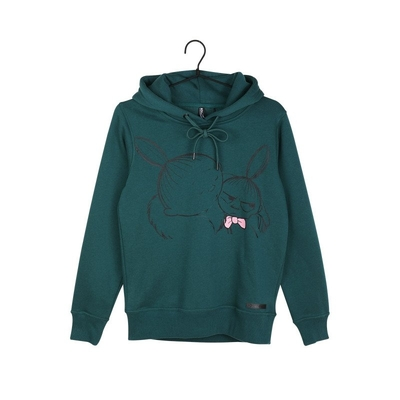 Moomin women's Mymble and Little My hoodie Sketch, green