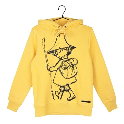Moomin women's Snufkin hoodie Sketch, yellow