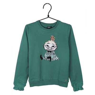 Moomin women's Tinja jersey knit shirt Little My, green