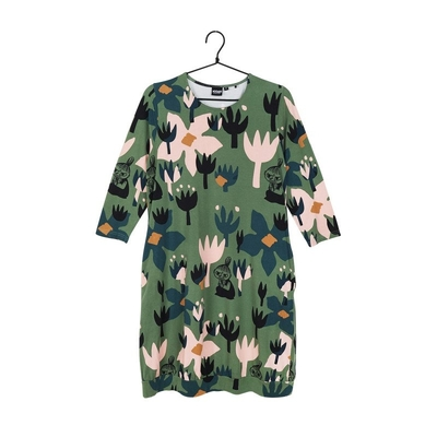 Moomin women's dress Siivi, green