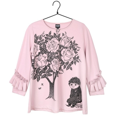 Moomin women's shirt Rose tree, rose