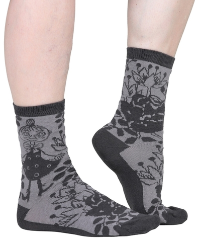 Moomin women's socks, Mymble Rose, black/grey